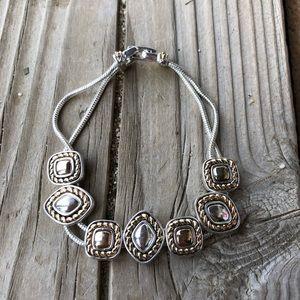 Pretty Napier Crystal Slide Charm Bracelet!
